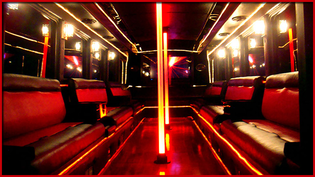 White Diamond Deluxe Limo Party Bus In Okc